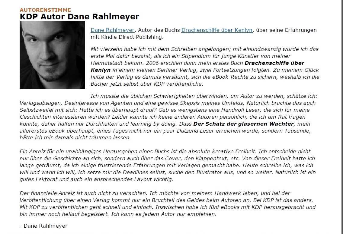 Kindle Direct Publishing Newsletter Autorenstimme Mai 2013